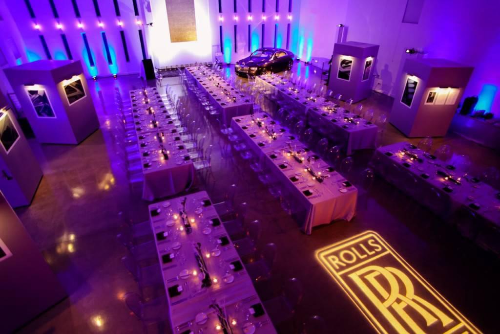 Raum- und Lichtkonzept für Rolls Royce und Photoserie Karl Lagerfeld