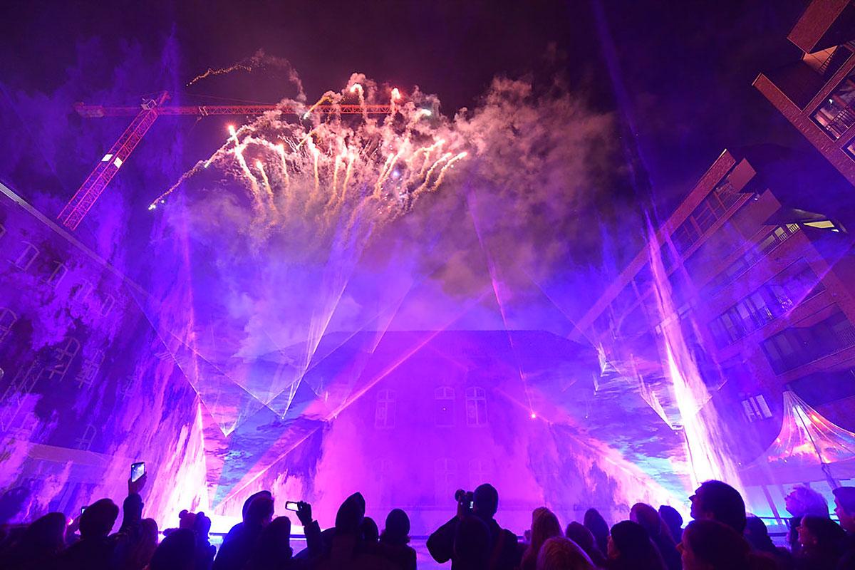 Individuelle Eisshows mit Eistänzern und Lasershow